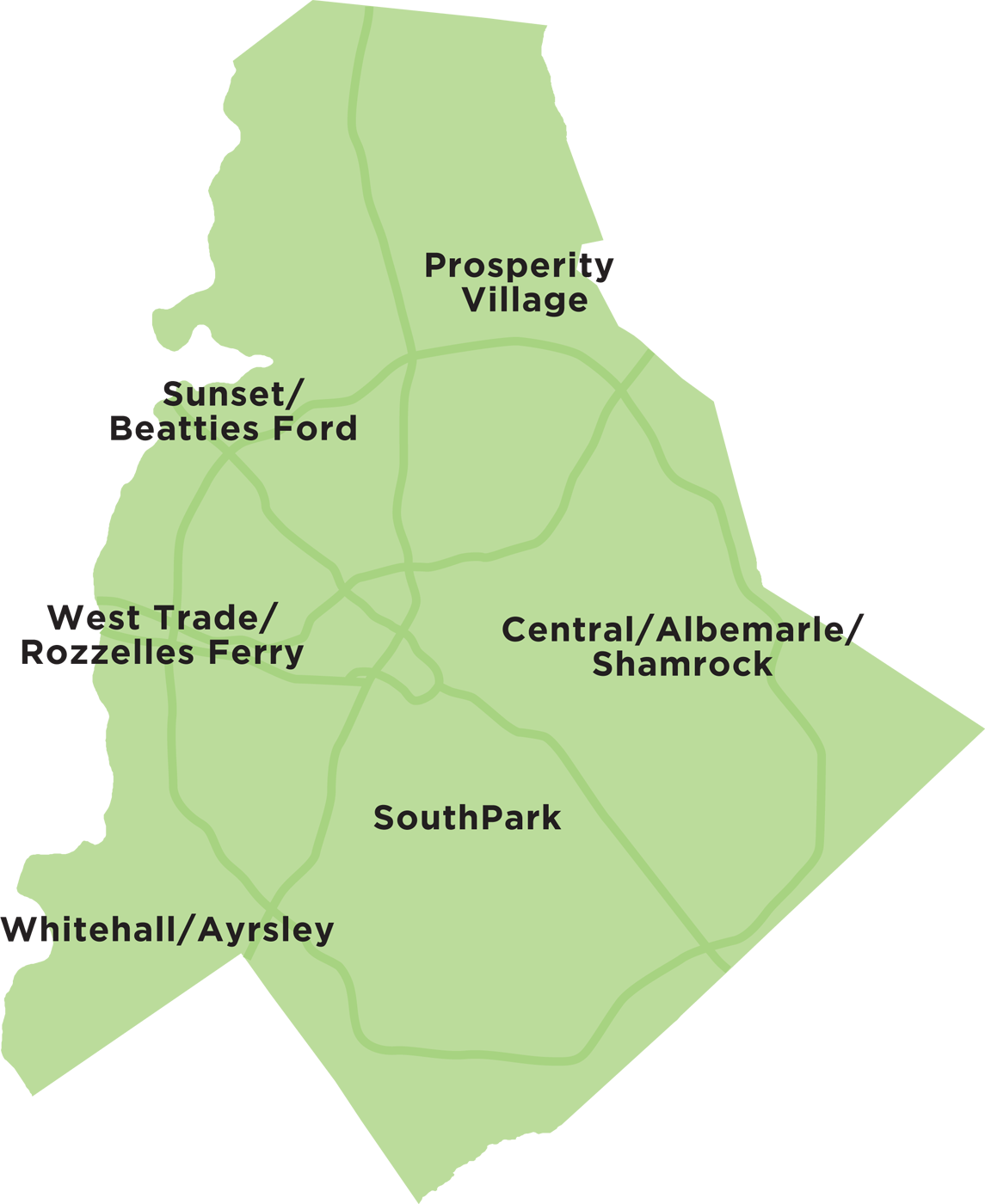 Mecklenburg County Area Map